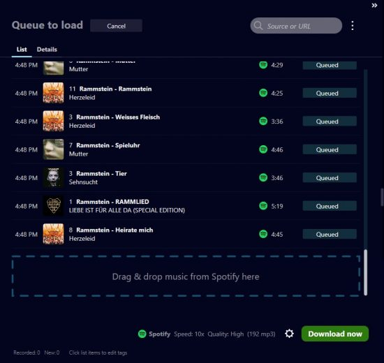Spotify recorder from Audials Tunebite