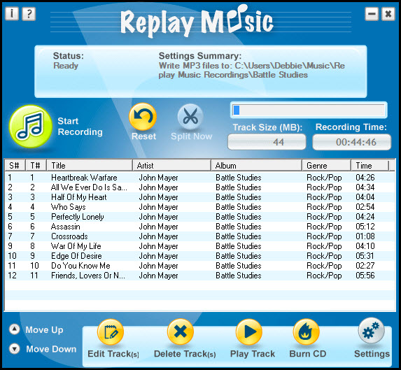 Spotify recorder Replay music
